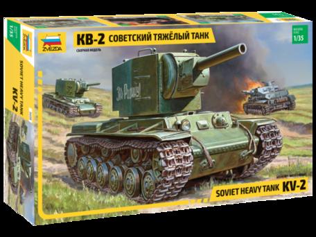 Zvezda Soviet Heavy Tank KV-2 1:35