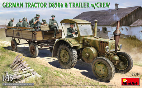 MiniArt German Tractor D8506 & Trailer with Crew 1:35
