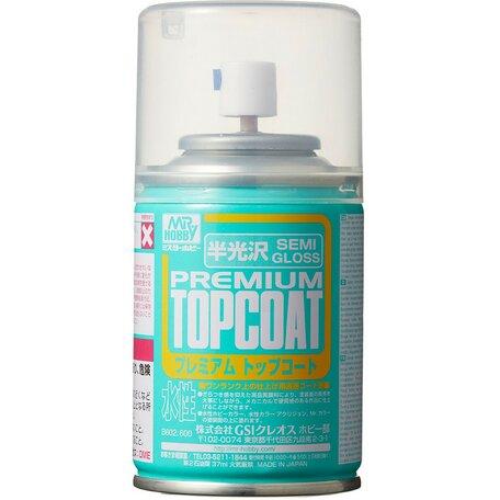 Mr.Hobby Premium Top Coat Semi Gloss Vernis Spray 86ml