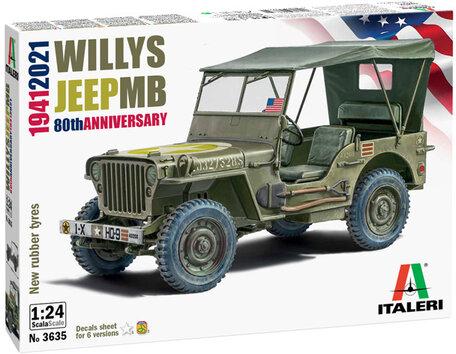 Italeri Willys Jeep MB 80th Anniversary 1:24