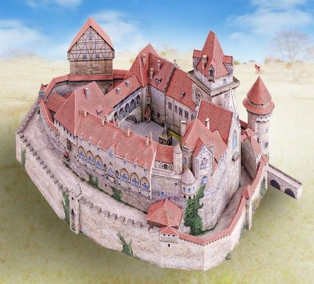 Schreiber Bogen Castle Kreuzenstein