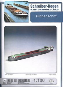 Schreiber Bogen Binnenschiff Barge