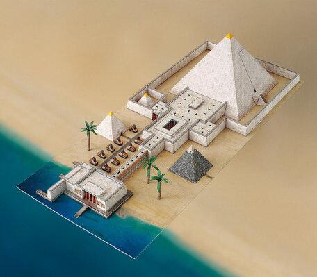 Schreiber Bogen Pyramid Valley Temple