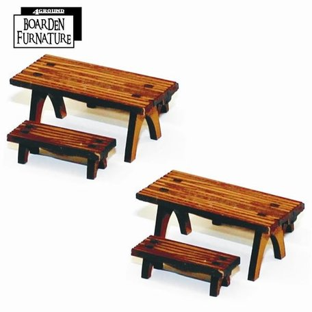 4Ground Short Trestle Table and Short Benches