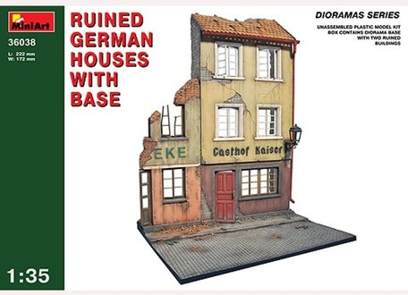 MiniArt Ruined German Houses with Base 1:35