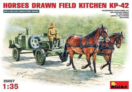 MiniArt Horses Drawn Field Kitchen KP-42 1:35