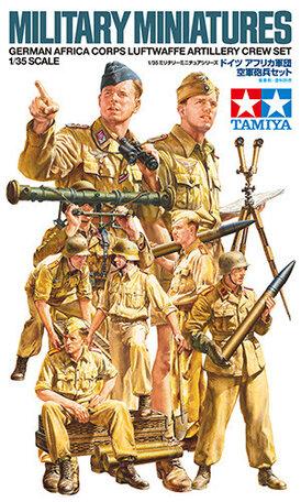 Tamiya German Africa Corps Luftwaffe Artillery Crew Set 1:35