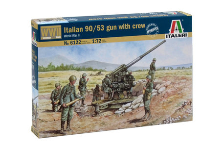 Italeri Italian 90/53 Gun with Crew 1:72