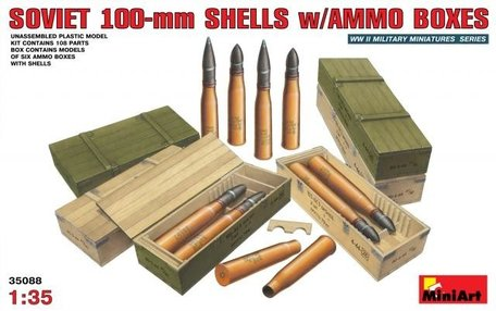 MiniArt Soviet 100-mm Shells with Ammo Boxes 1:35