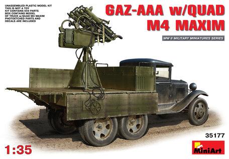 MiniArt GAZ-AAA with Quad M4 Maxim 1:35