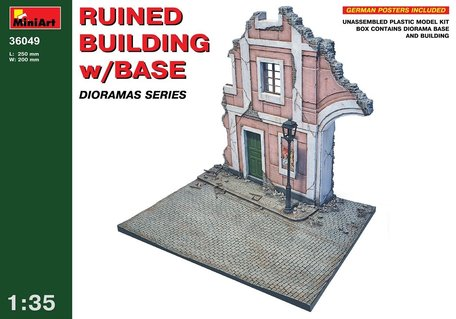 MiniArt Ruined Building with Base 1:35