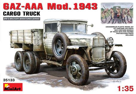 MiniArt GAZ-AAA Mod. 1943 Cargo Truck 1:35