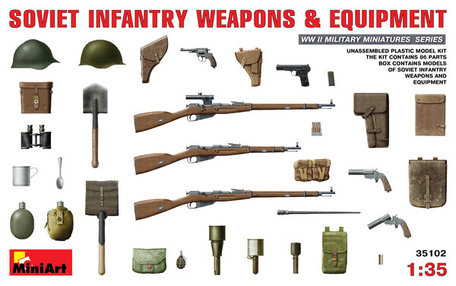 MiniArt Soviet Infantry Weapons & Equipment 1:35