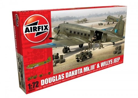 Airfix Douglas Dakota Mk.III & Willys Jeep 1:72