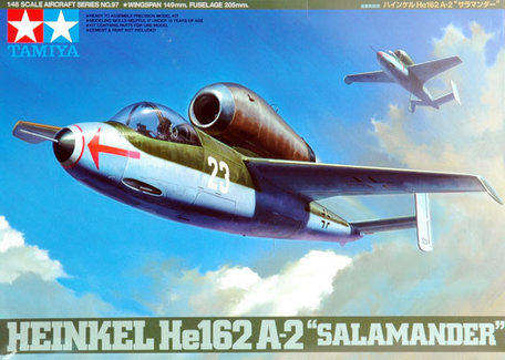 Tamiya Heinkel He162 A-2 Salamander 1:48