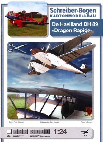 Schreiber Bogen De Havilland DH 89 Dragon Rapide