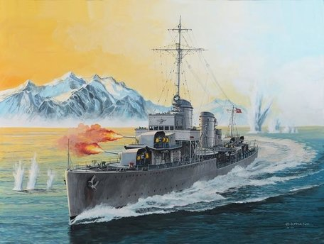 Revell German Destroyer Type 1936 1:350