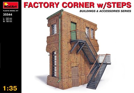 MiniArt Factory Corner with Steps 1:35