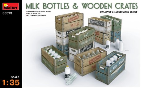 MiniArt Milk Bottles & Wooden Crates 1:35