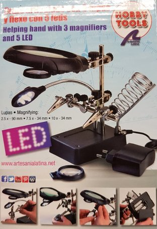 Artesania Derdehandje met Vergrootglas en LED Verlichting