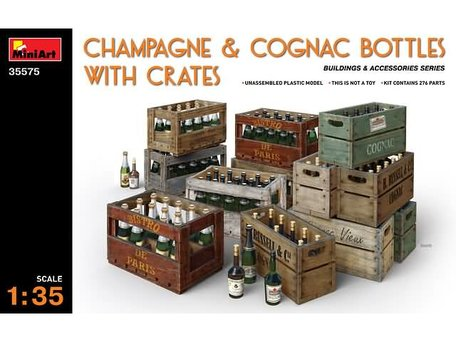 MiniArt Wine Bottles & Wooden Crates 1:35