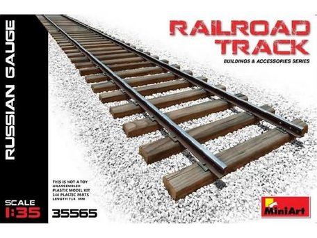 MiniArt Railroad Track Russian Gauge 1:35