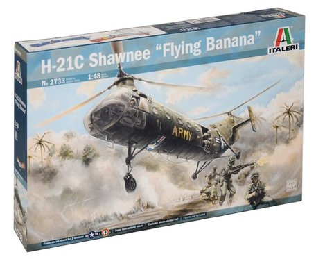 Italeri H-21C Shawnee Flying Banana 1:48