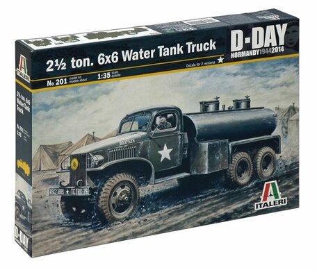 Italeri 2,5 ton. 6x6 Water Tank Truck 1:35