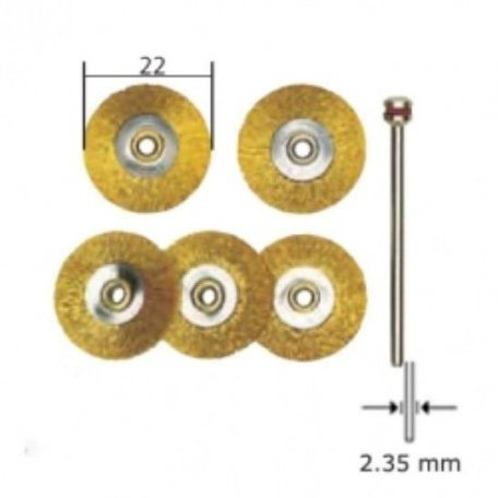 Proxxon Brass Wire Wheel Brushes (28962)