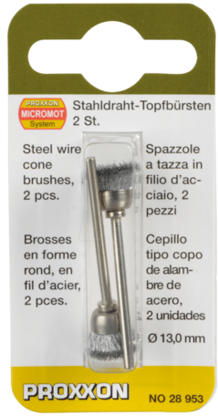 Proxxon Steel Wire Cone Brushes (28953)