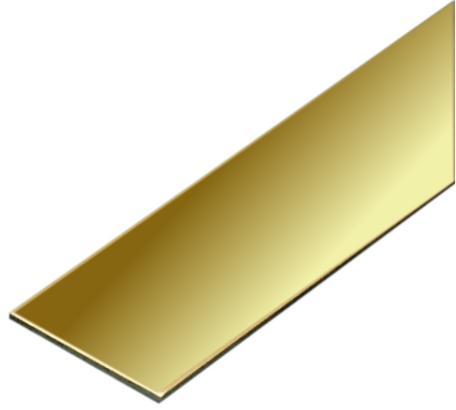 Albion Alloys Messing Strip 25.0 mm x 0.6 mm