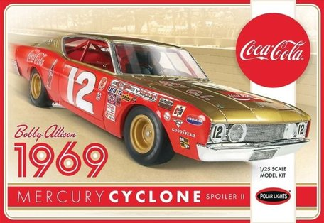 Polar Lights Bobby Allison 1969 Coca Cola Mercury Cyclone 1:25