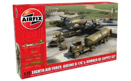 Airfix Eighth Air Force: Boeing B-17G & Bomber Re-supply Set 1:72