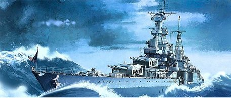 Academy USS Indianapolis CA-35 1:350