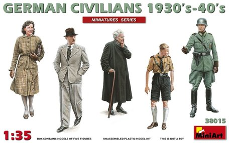 MiniArt German Civilians 1930's - 1940's 1:35