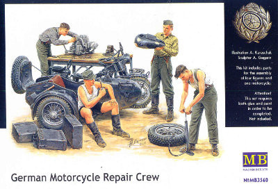 Master Box German Motorcycle Repair Crew 1:35