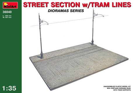 MiniArt Street Section with Tram Lines 1:35