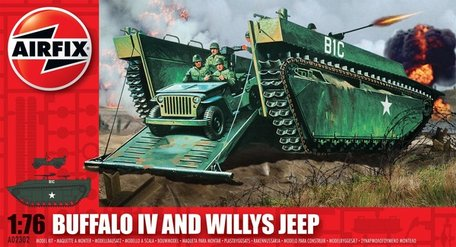 Airfix LTV 4 Buffalo & Willys Jeep 1:76