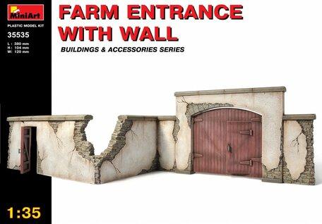 MiniArt Farm Entrance with Wall 1:35