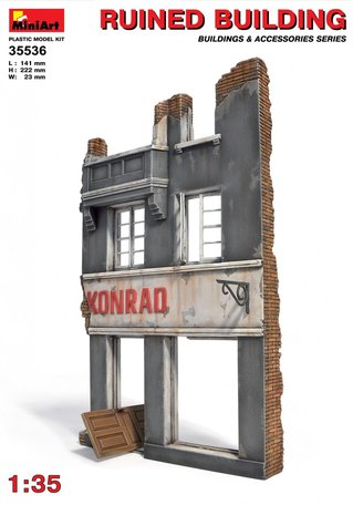 MiniArt Ruined Building 1:35