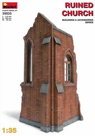 MiniArt Ruined Church 1:35