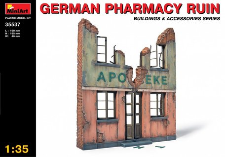 MiniArt German Pharmacy Ruin 1:35