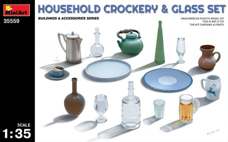 MiniArt Household Crockery & Glass Set 1:35