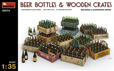 MiniArt Beer Bottles & Wooden Crates 1:35
