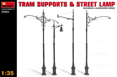 MiniArt Tram Supports & Street Lamp 1:35