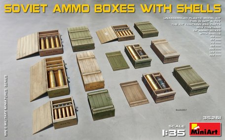 MiniArt Soviet Ammo Boxes with Shells 1:35