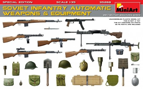 MiniArt Soviet Infatry Automatic Weapons & Equipment 1:35