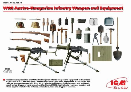 ICM Austro-Hungarian Infantry Weapon and Equipment 1:35