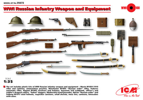 ICM Russian Infantry Weapon and Equipment 1:35