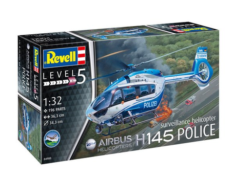 Revell Airbus H145 Police Suveillance Helicopter 1:32